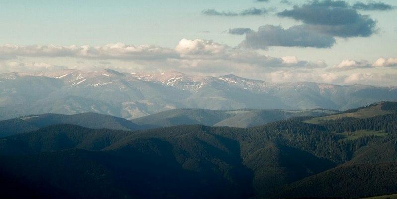 панорама Карпатских гор