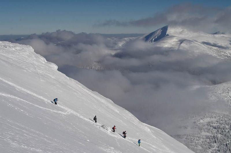 Спуск с Говерлы зимой