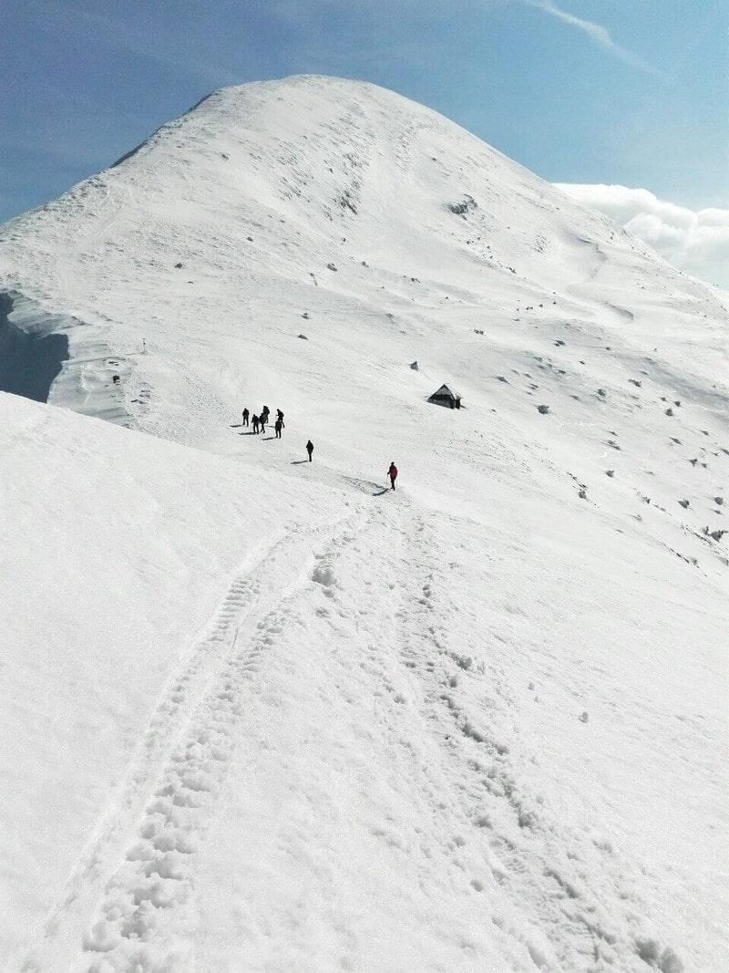 Зименее восхождение на Говерлу